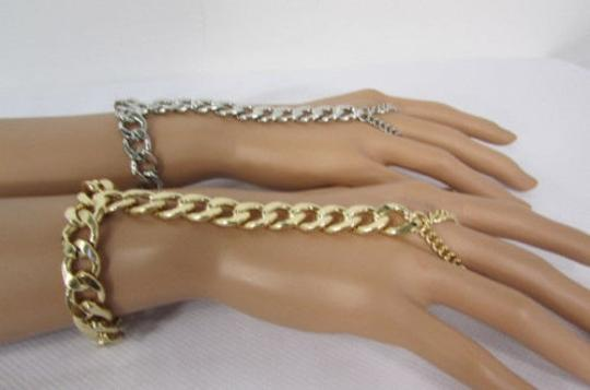 Other Women Bracelet Metal Long Hand Chains Slave Ring Silver Gold