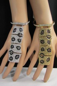 Other Women Fashion Leopard Bracelet Safari Hand Chains Slave African Ring Silver Gold