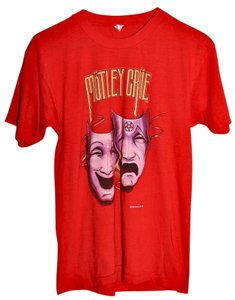 Genuine Vintage from 1985 Concert Concert Shirt Rock 80s Motley Crue T Shirt Red