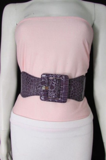Other Women Low Hip High Waist Elastic Square Fashion Purple Belt 25-38