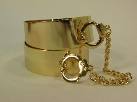 Other Women Gold Plates Hand Cuffs Chain Connected Bracelet Bangle