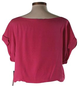 Alice + Olivia Silk Top Fuchsia