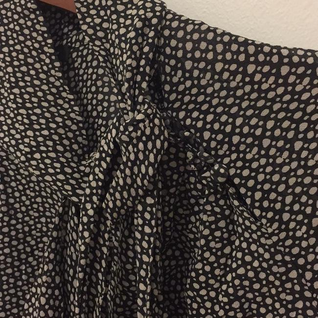 Ann Taylor Top Black, Patterned