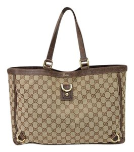 a47376d3c71895 Gucci Abbey D Ring Gg Neverfull Monogram Jacquard Canvas Tote - Tradesy