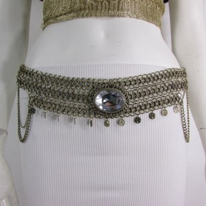 Women Hip Waist Antique Gold Metal Chains Fashion Belt Big Bead 29-37