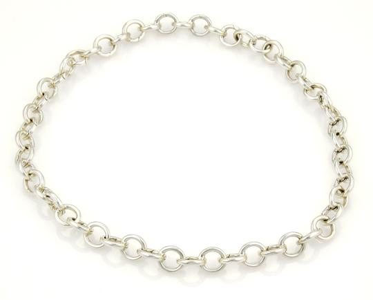 Tiffany & Co. Round ALL Clasping Sterling Silver Link Necklace