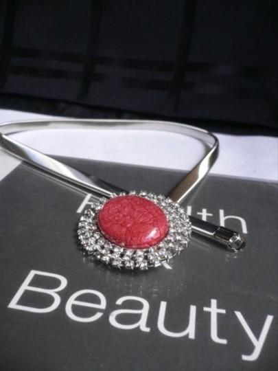 Other Women Hip High Wiast Elastic Metal Thin Silver Belt Dreesy Red Buckle