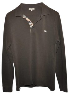 Burberry London Slim Fit Mens Button Down Shirt Brown