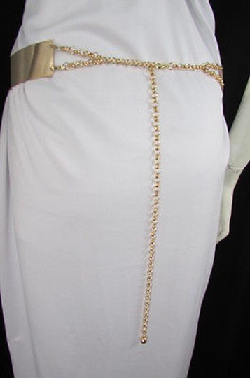 Other Women Gold Full Metal Plate Chains Fashion Belt Hip High Waist M L 31-45