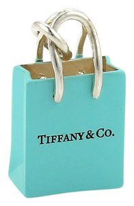 Tiffany & Co. Tiffany & Co. Sterling Blue Enamel Shopping Bag Charm
