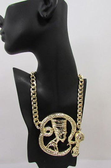 Other Women Gold Necklace Big Egyptian Queen Snake Pendant