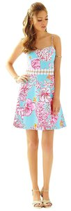 Lilly Pulitzer short dress Breakwater Blue Lolita With Sunglow Lenore Cut-out Easter on Tradesy