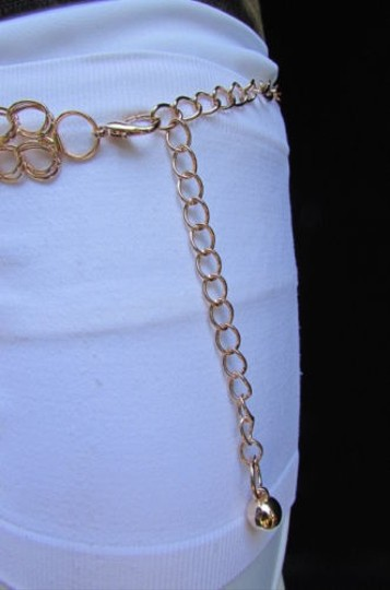 Other Women Gold Metal Chains Big Heart Pendant Hip Waist Fashion Belt