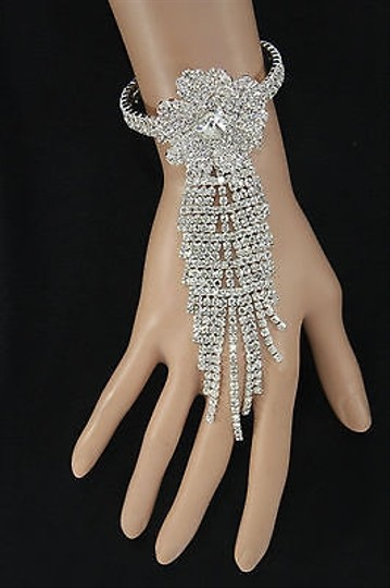 Other Women Silver Metal Hand Chain Fashion Slave Bracelet Ring