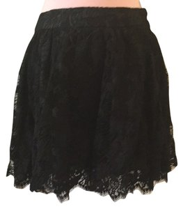 Charlotte Russe Lace Skirt black