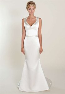 Winnie Couture Cream Pearl Satin Simmone Wedding Dress Size 4 (S)