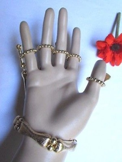 Other Women Gold Fingers Metal Hand Chain Skeleton Fashion Slave Ring Bracelet