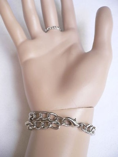 Other Women Silver Fringe Hand Links Slave Bracelet Wrist To Ring