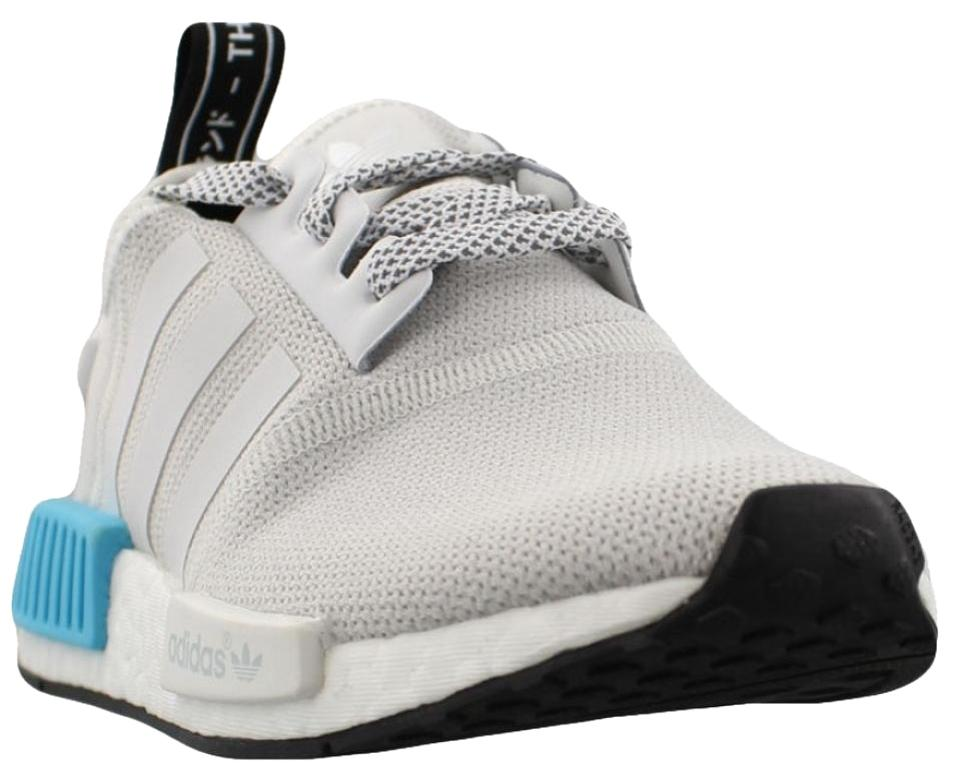 a7532d2b08a36 adidas White Blue Nmd R1 J Limited Exclusive Rare Yeezy Boost Youth Sneakers.  Size  US 6 Regular (M ...