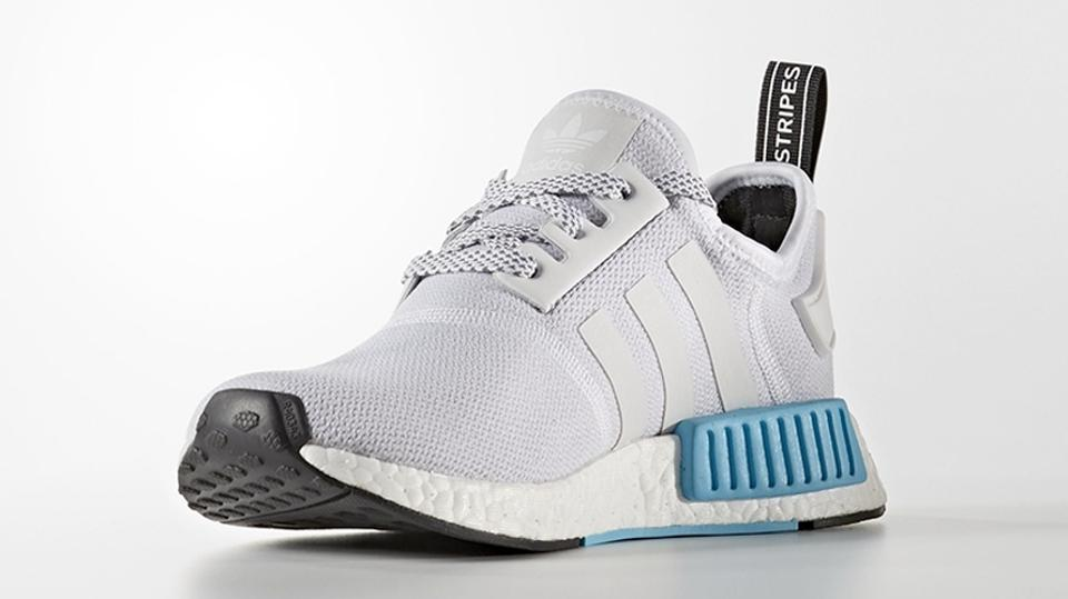 hot sale online 00feb 5d39d adidas White Blue Nmd R1 J Limited Exclusive Rare Yeezy Boost Youth  Sneakers Size US 6 Regular (M, B)