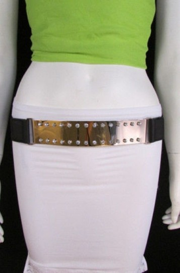 Other Women Fashion Gold Metal Plate Belt Hip Waist Multi Rhinestones 28-38