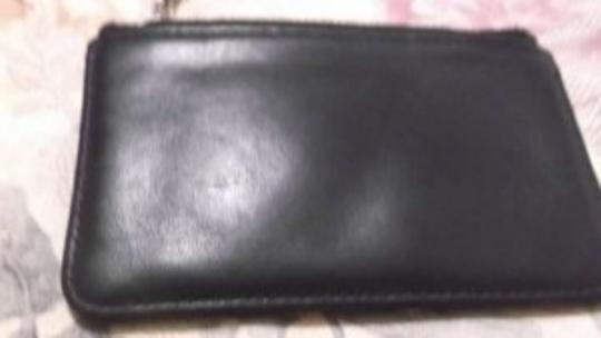 Coach VINTAGE COACH BLACK LEATHER SKINNY COIN PURSE