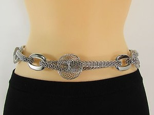 Other Women Hip Waist Silver Metal Fashio Chain Round Circles Slinks Belt