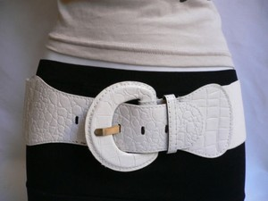 Other Women Hip Elastic High Waist White Belt Plus Size