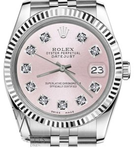Rolex Women's Rolex 31mm Datejust Metallic Pink Diamond Dial Watch