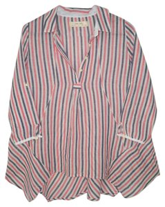 Anthropologie Linen A-line Striped Top