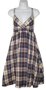 J.Crew short dress Plaid Cotton Spaghetti Straps Full Flare on Tradesy
