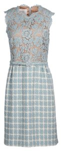 Valentino Lace/tweed Combo Dress