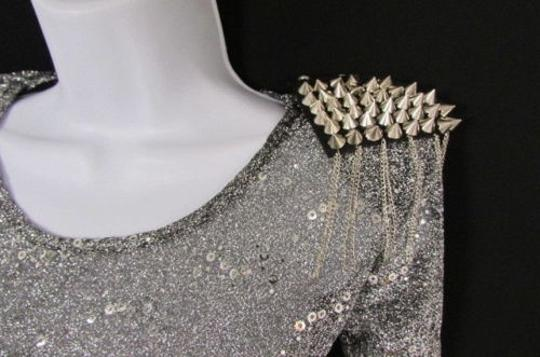 Other Women Lady One Shoulder Pin Broach Spikes Body Jewelry Gaga M.j.