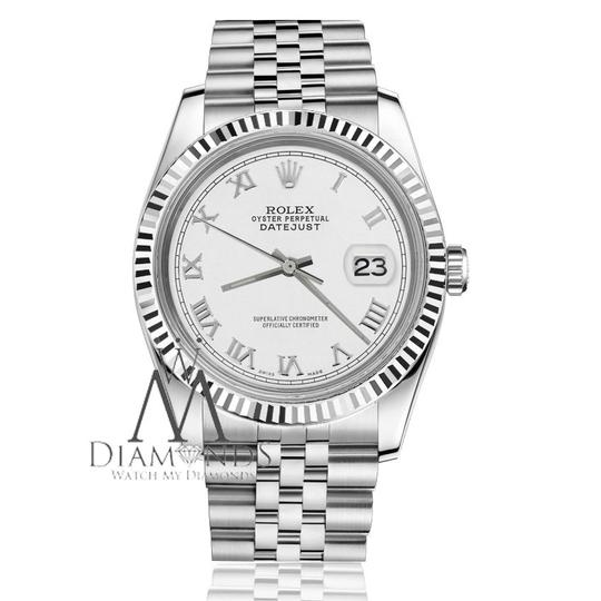 Rolex Ladies Rolex 31mm Datejust White Color Roman Numeral Dial Watch