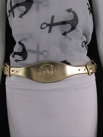 Other Women Hip Waist Moroccan Big Medusa Gold Buckle Fashion Belt