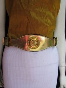 Other Women Hip Waist Moroccan Big Coin Gold Buckle Gold Fashion Belt 30-34 Sm