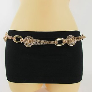 Other Women Belt Retro Gold Silver Metal Mesh Chains Hip Waist Fashion