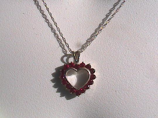 Other Ruby Heart Sterling Silver Necklace