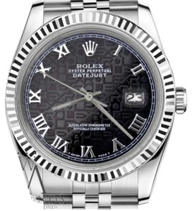 Rolex Women's Rolex 31mm Datejust Black Jubilee Roman Numeral Dial Watch