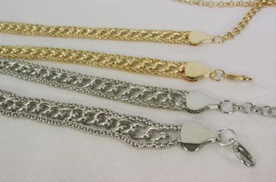 Other Women Chunky Metal Chains Thin Fashion Belt Hip Waist Silver Gold