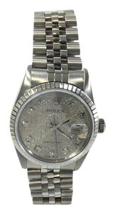 Rolex Men's 36mm Datejust Diamond Dial with Silver Jubilee Metal Plate Watch