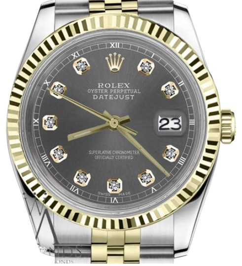 Preload https://img-static.tradesy.com/item/19270954/rolex-women-s-26mm-datejust-2-tone-dark-grey-color-dial-with-diamond-accent-watch-0-1-540-540.jpg