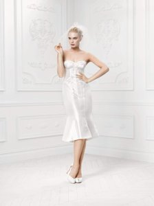 Zac Posen Mikado Truly Zac Posen Short Wedding Dress With Corset Wedding Dress