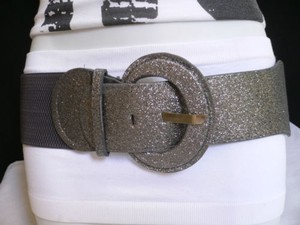 Other Women Low Hip Elastic High Waist Sparkling Gray Fashion Belt 25-37
