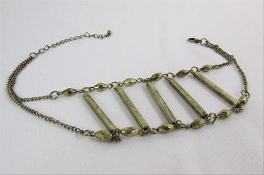 Other Women Antique Gold Metal Western Boot Chain Strap Ladder Beads Shoe Charm