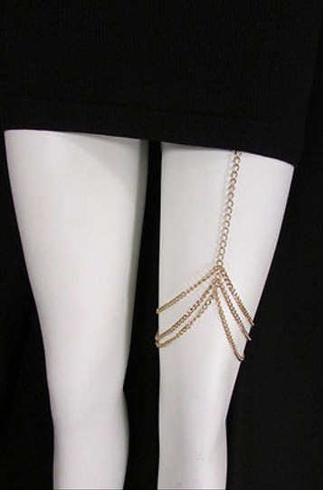 Other Women Gold Thigh Leg Metal Chain Garter Hugging Strand Fashion Body Jewelry