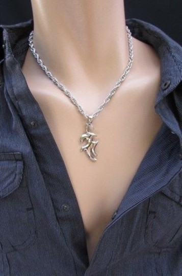 Other Men 18 Trendy Fashion Silver Chain Necklace Trible Pendant Different Styles