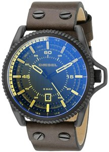 Diesel Diesel Men's Rollcage Three Hand Leather Watch - DZ1718