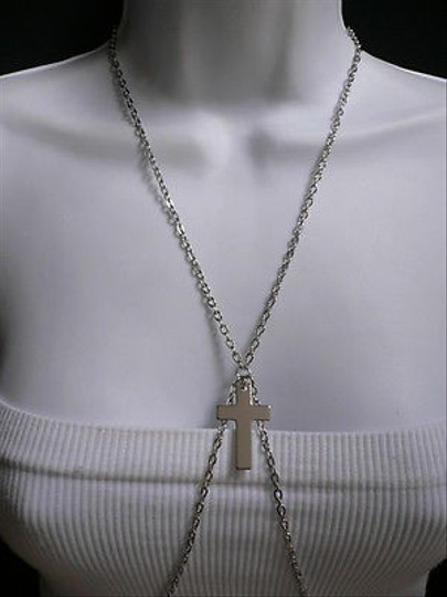 Other Women Silver Classic Cross Fashion Metal Body Chain Jewelry Long Necklace