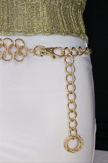 Other Women Wide Infinity Metal Chains Fashion Belt Hip Waist Silver Gold
